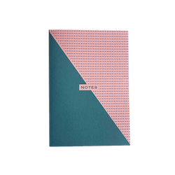 Two-Tone Teal and Pink Notebook