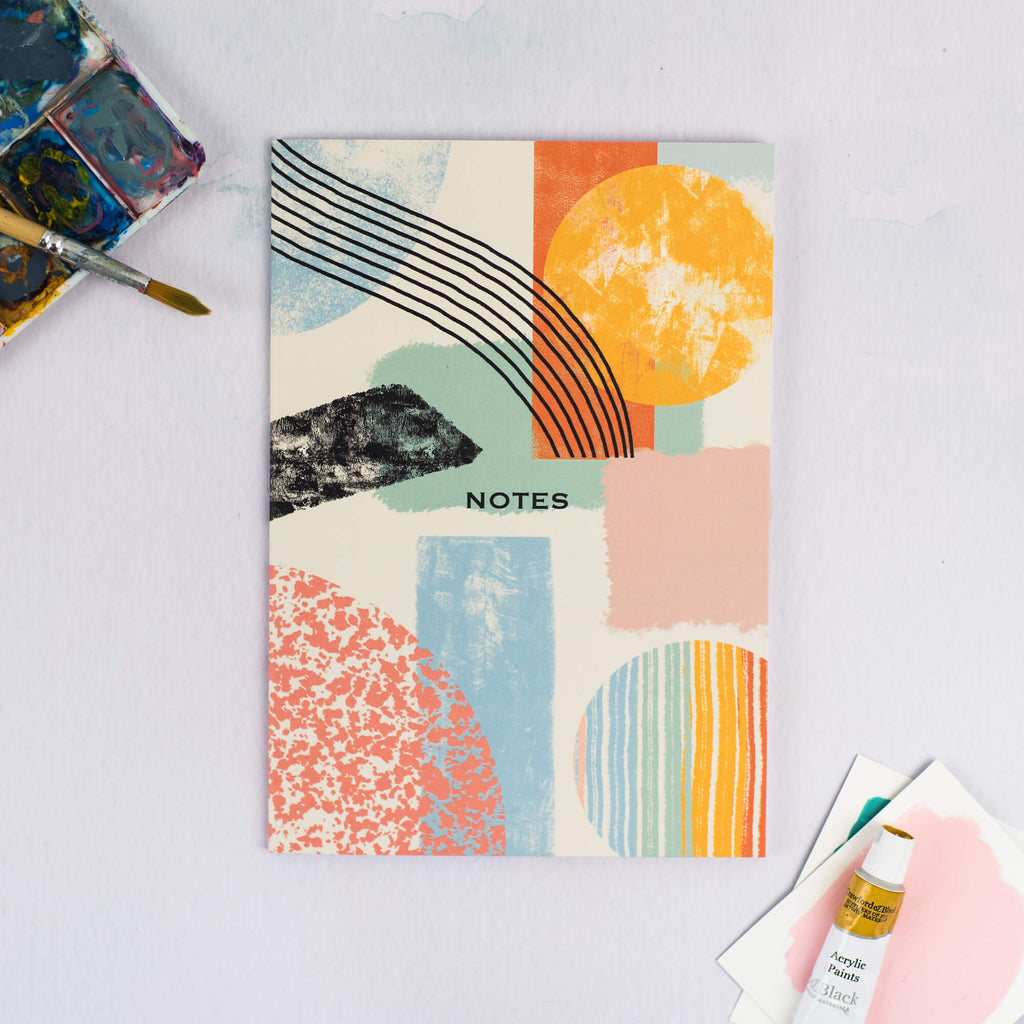 Abstract Pattern Plain A5 Notebook - The Design Palette