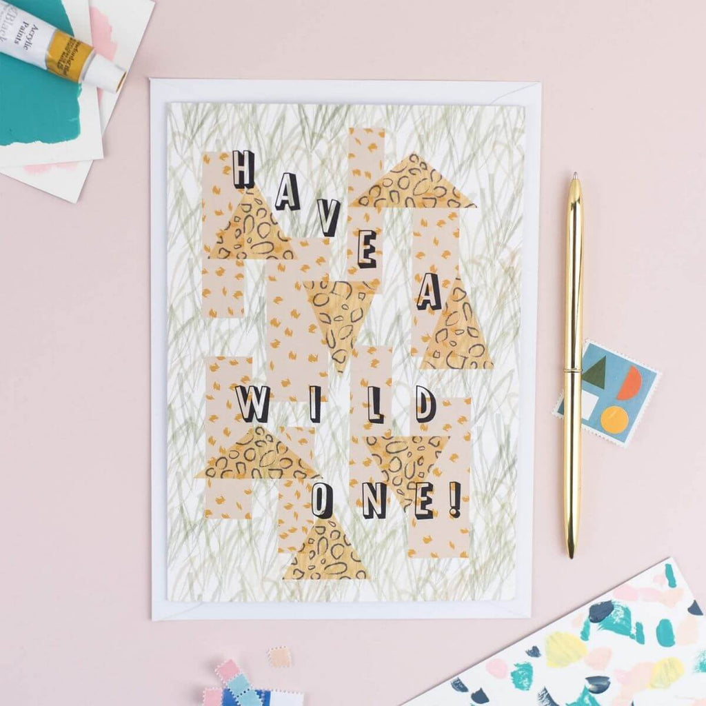 Animal Print Birthday Card - The Design Palette