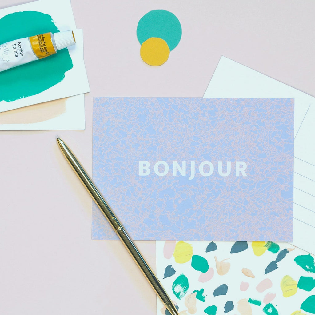 Bonjour Postcard - The Design Palette