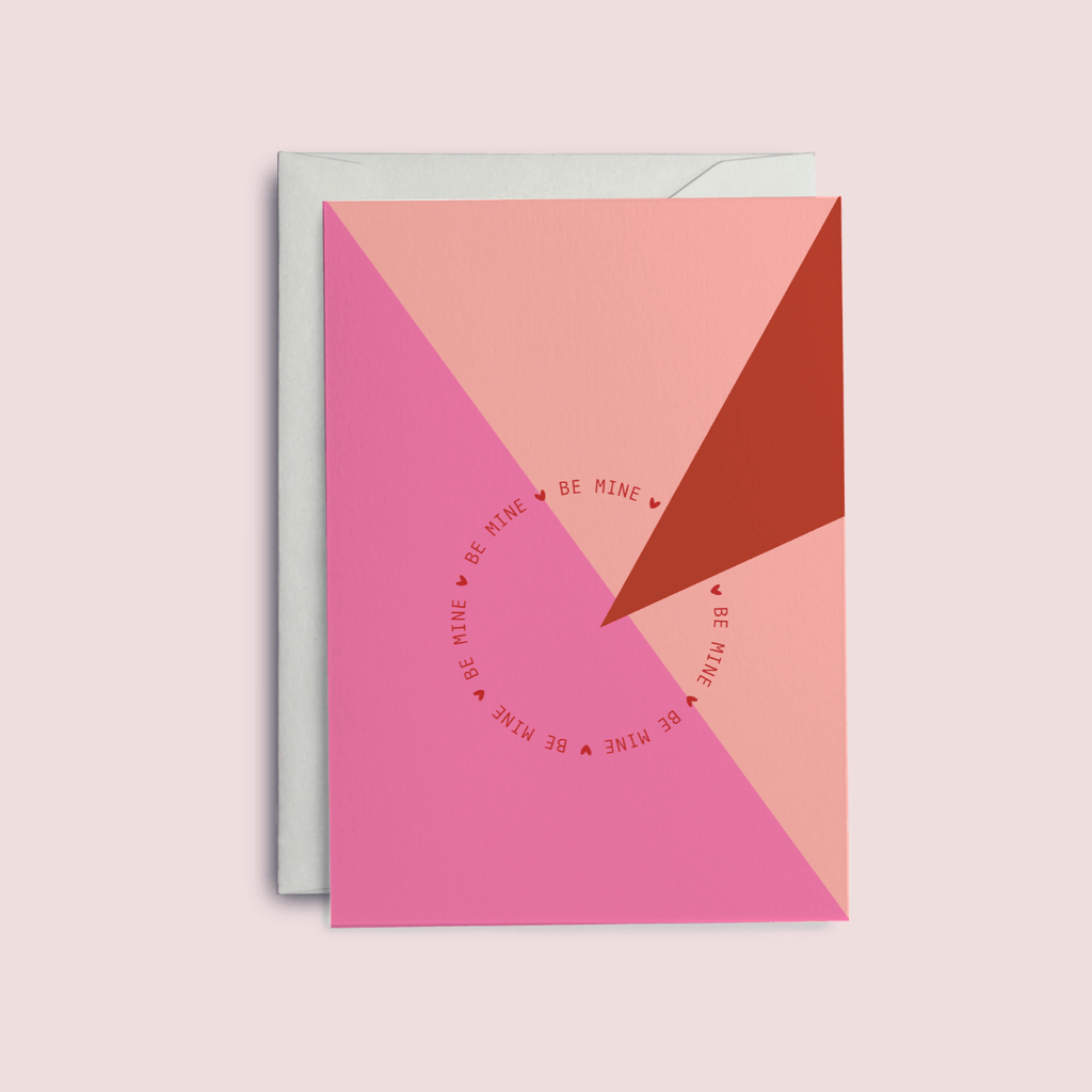 Be Mine Valentine's Card - The Design Palette
