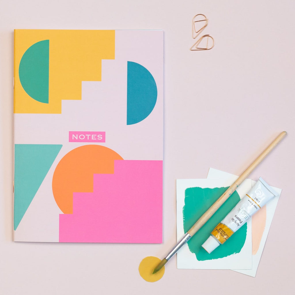 Geometric Shapes Dotted A5 Notebook - The Design Palette