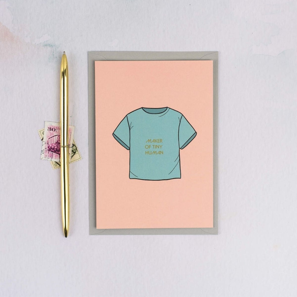 Congratulations Tiny Human New Baby Card