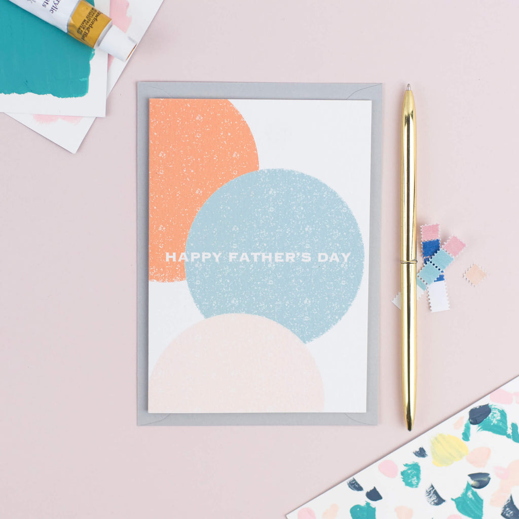 CONTEMPORARY CIRCLES FATHER'S DAY CARD - The Design Palette