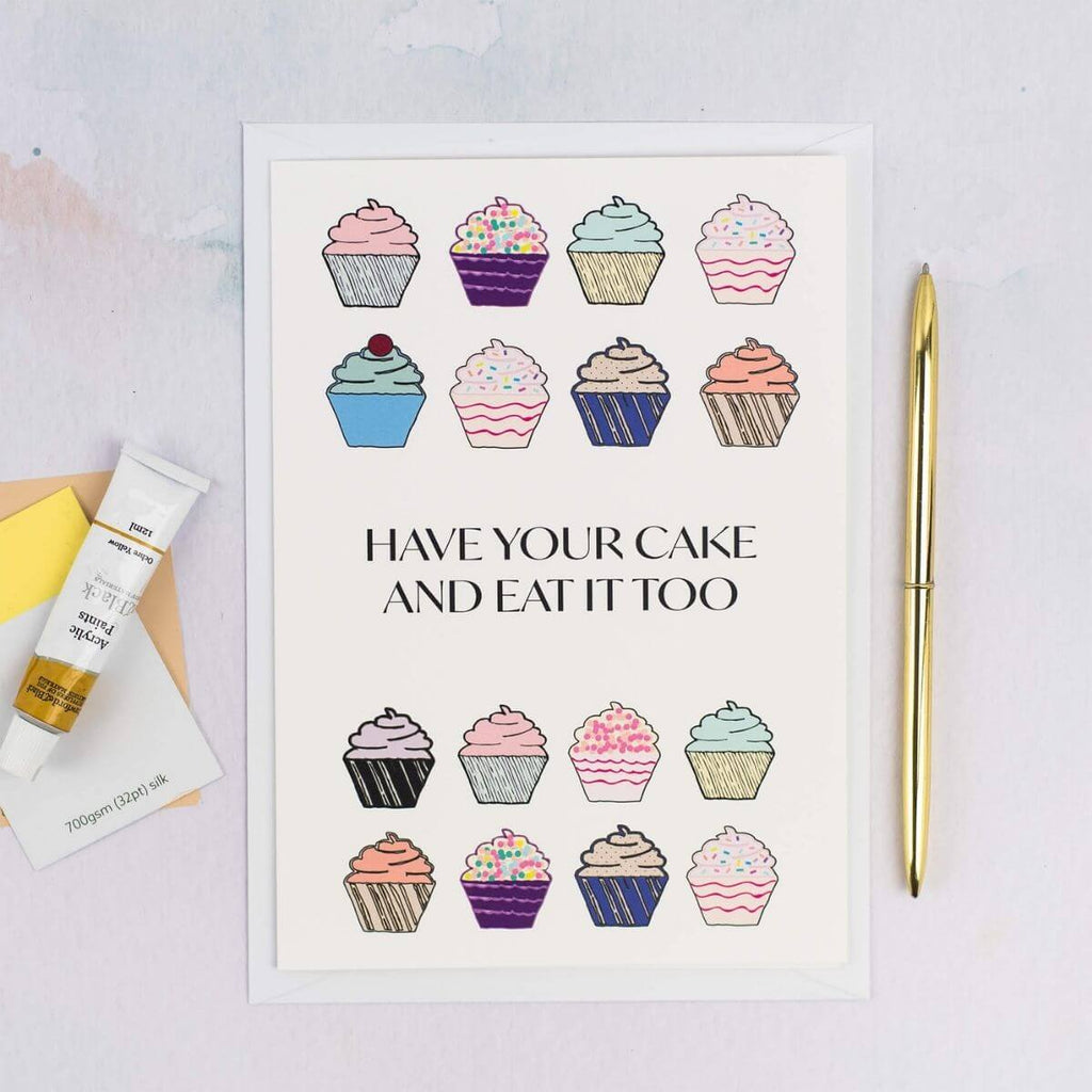 Cupcakes Birthday Card - The Design Palette
