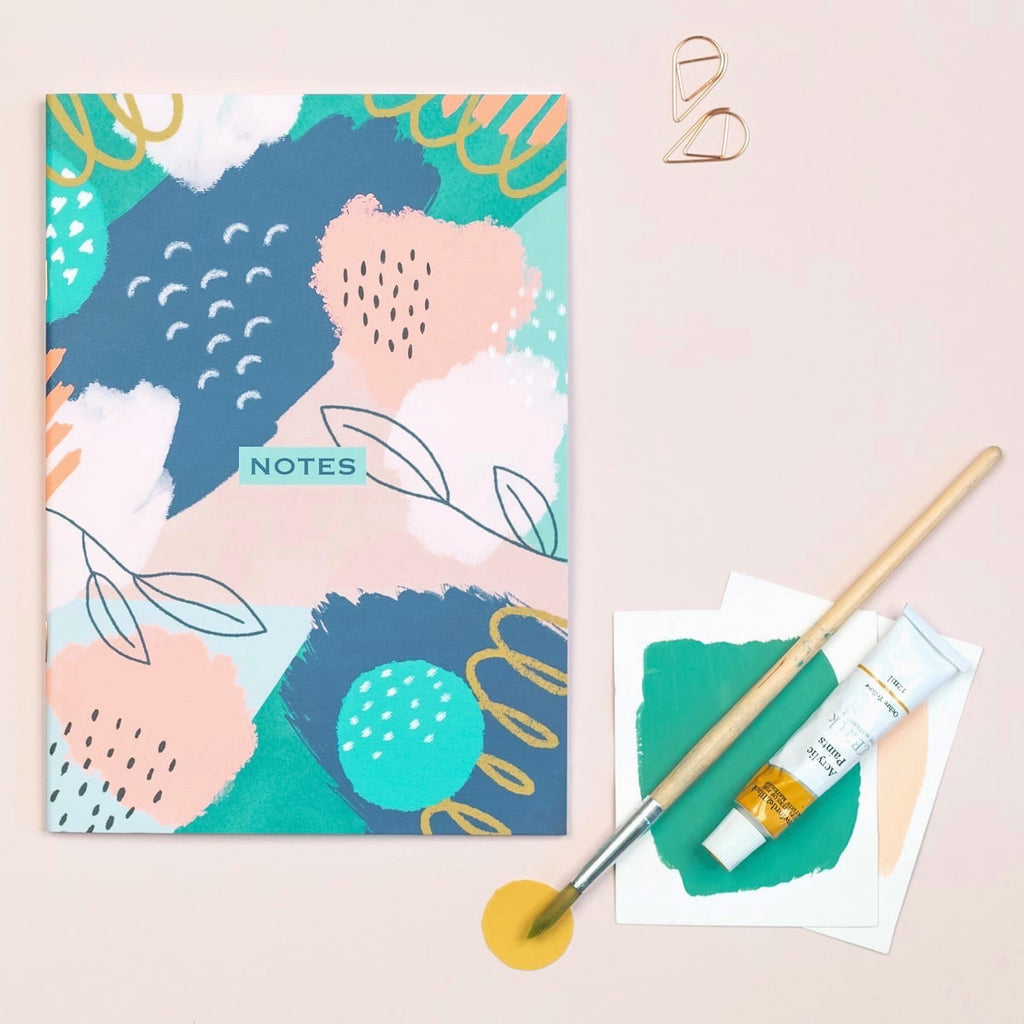 Floral Lined A5 Notebook - The Design Palette