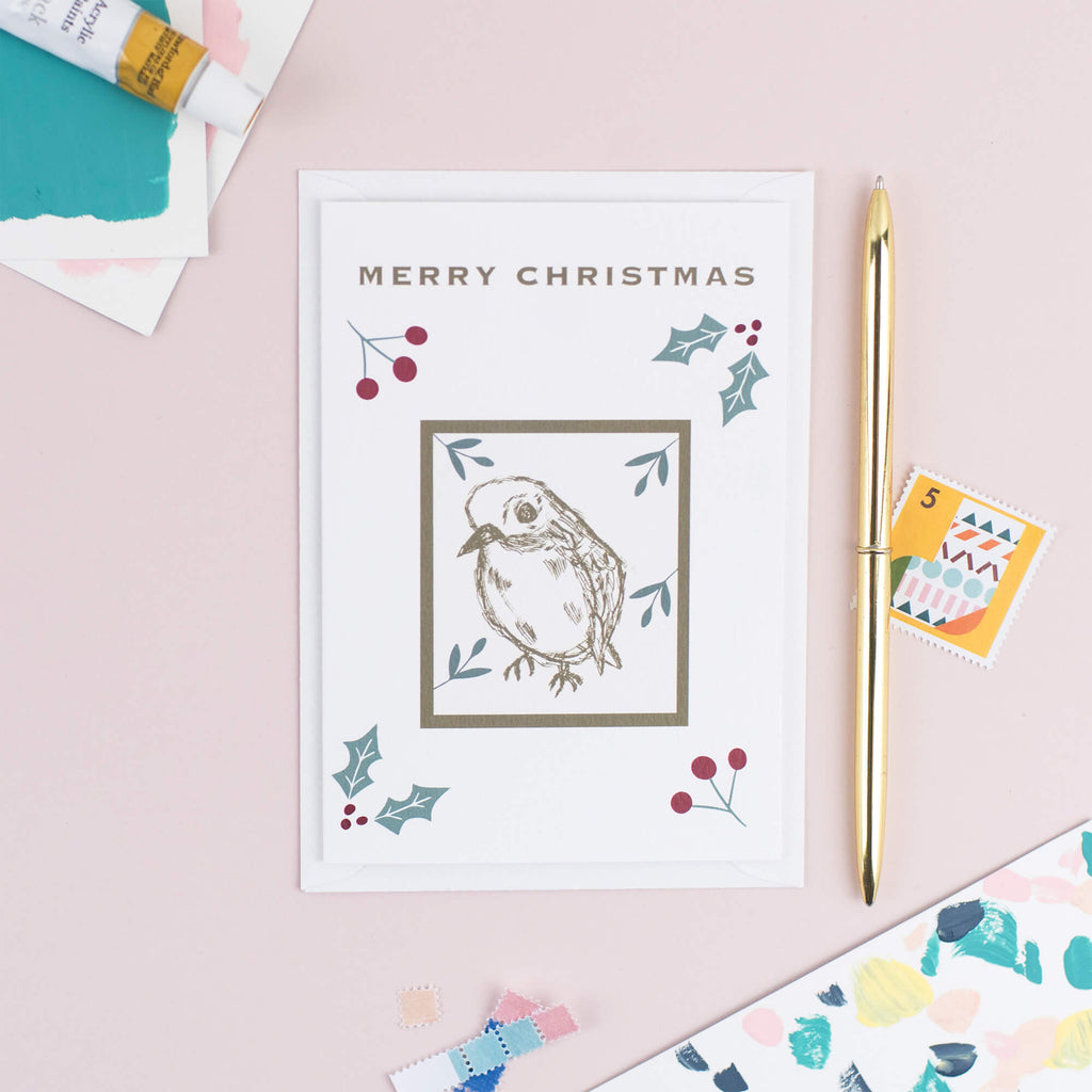 Robin Christmas Card - The Design Palette