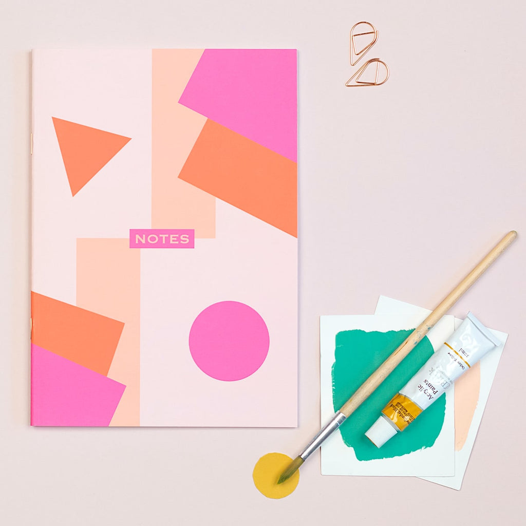 Geometric Lined A5 Notebook - The Design Palette