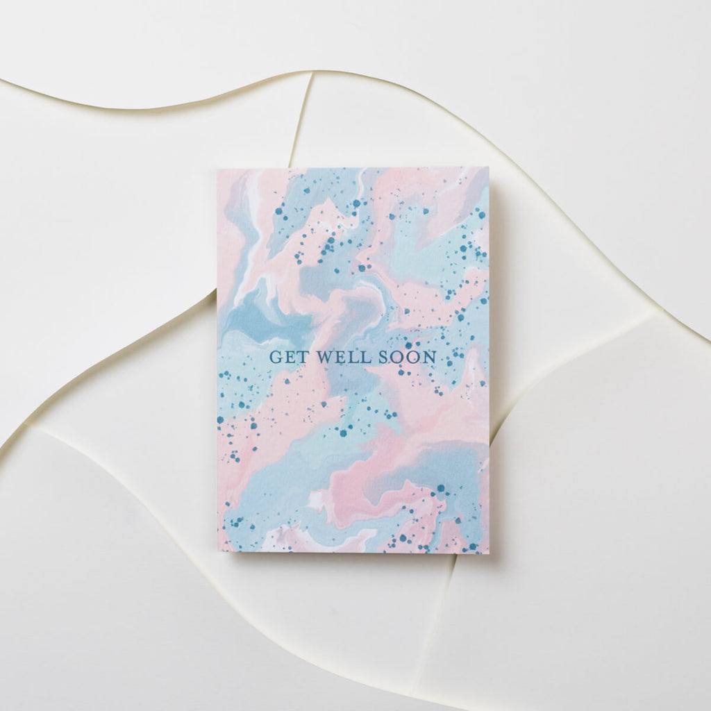 Get Well Soon Marble Card - The Design Palette