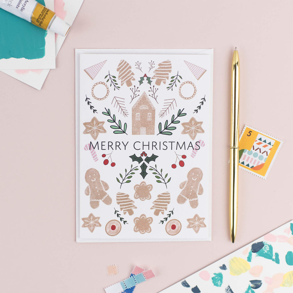 GINGERBREAD CHRISTMAS CARD - The Design Palette