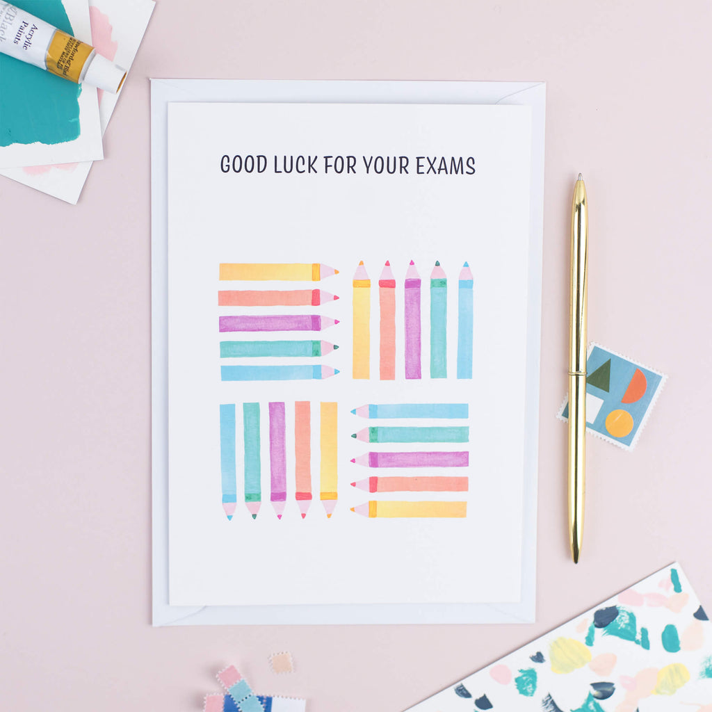 GOOD LUCK IN YOUR EXAMS CARD - The Design Palette