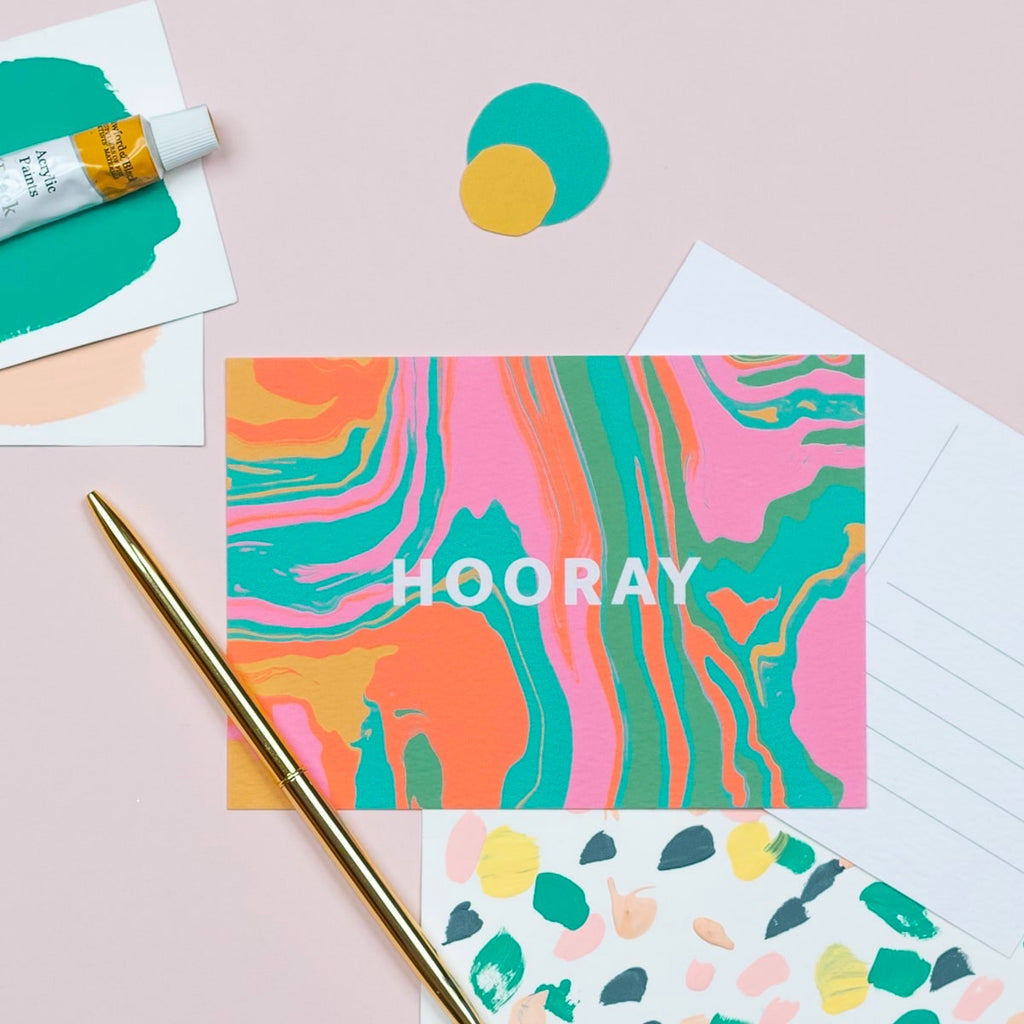 Hooray Postcard - The Design Palette