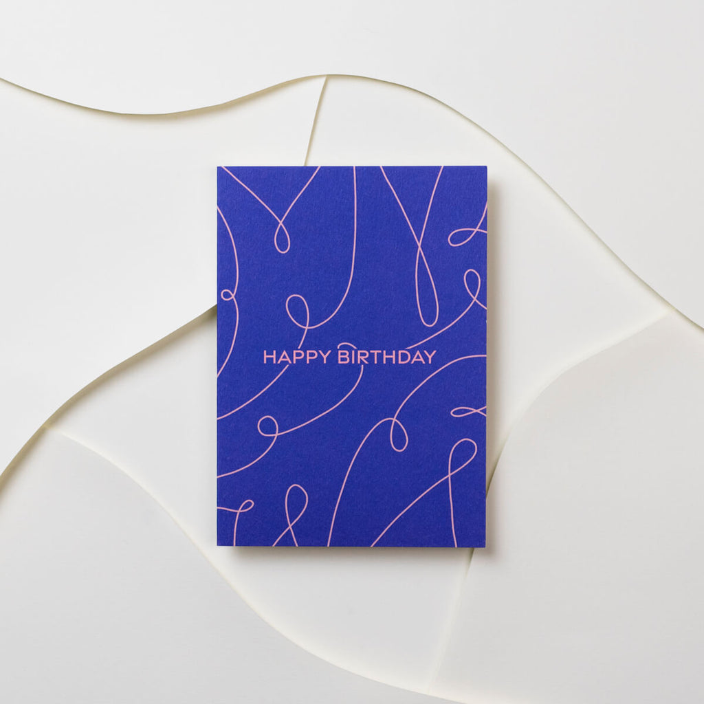 Happy Birthday Squiggles Card - The Design Palette