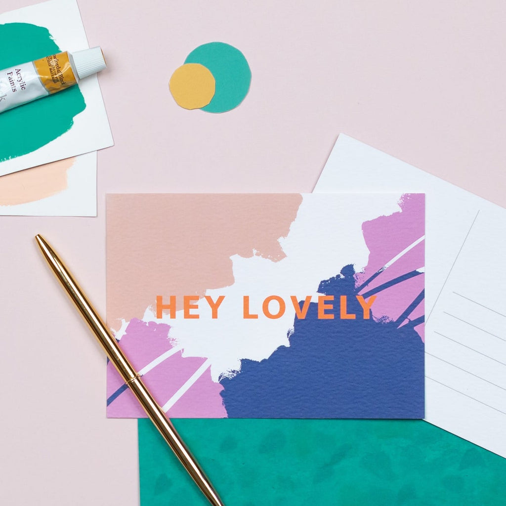 Hey Lovely Postcard - The Design Palette