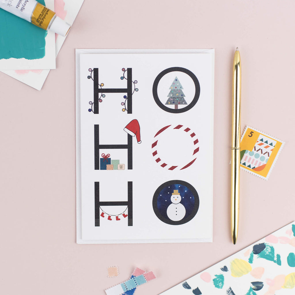 Ho Ho Ho Christmas Card - The Design Palette