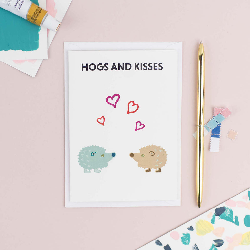 Hogs and Kisses Card - The Design Palette