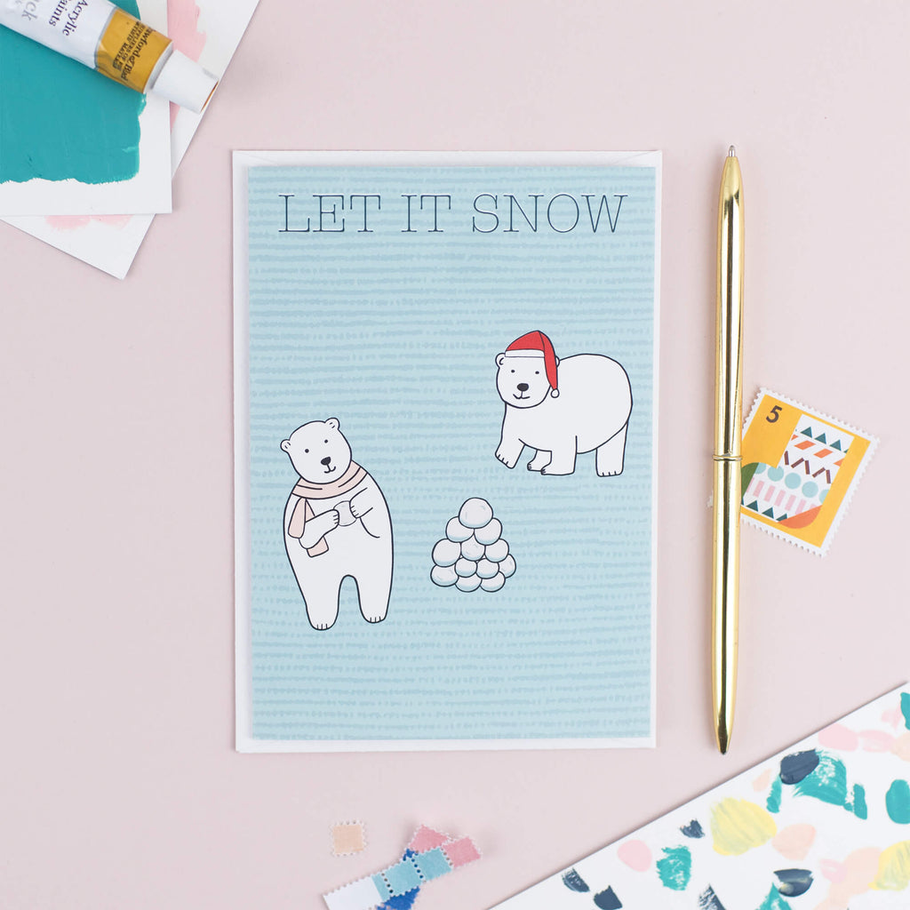 Let It Snow Christmas Card - The Design Palette