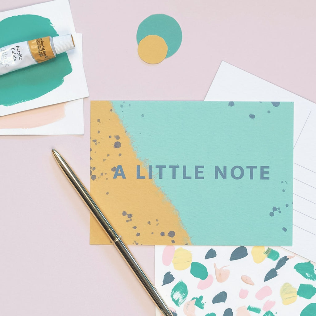 A Note To Say Postcard - The Design Palette