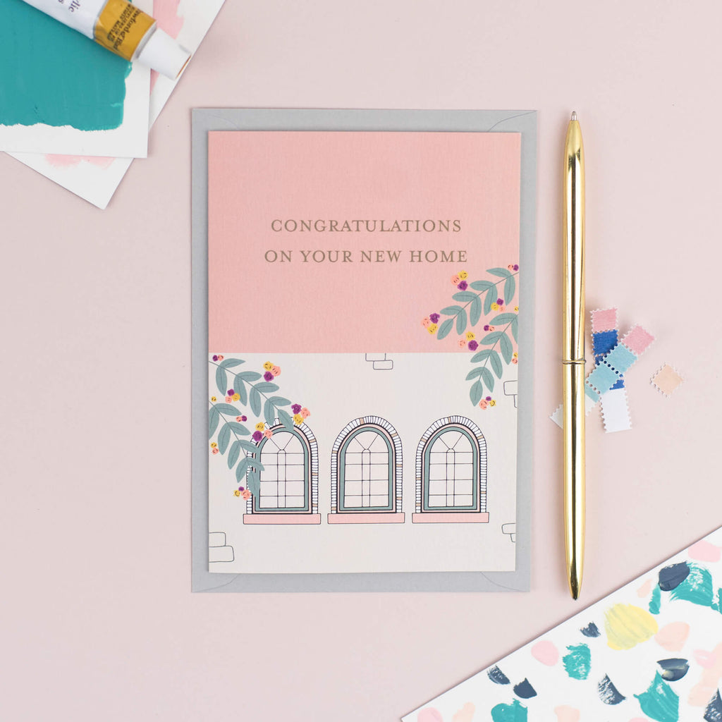 CONGRATULATIONS NEW HOME CARD - The Design Palette