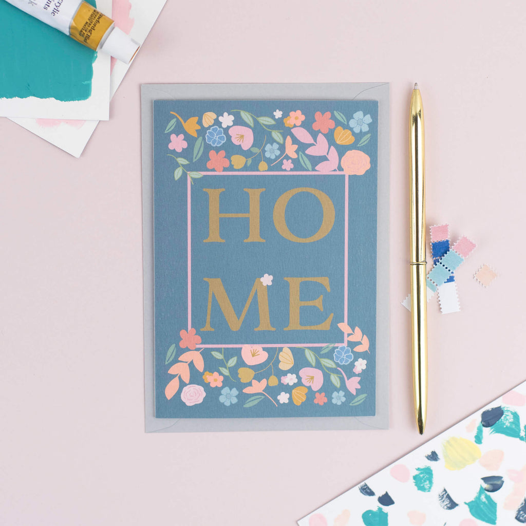 NEW HOME FLORAL CARD - The Design Palette