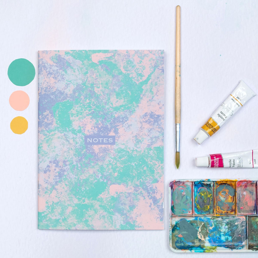 Painterly Abstract Dotted A5 Notebook - The Design Palette