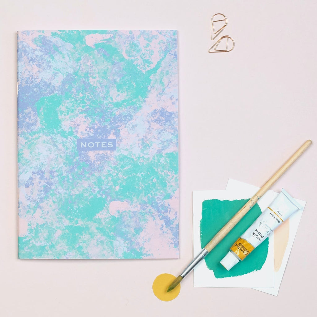 Painterly Abstract Lined A5 Notebook - The Design Palette