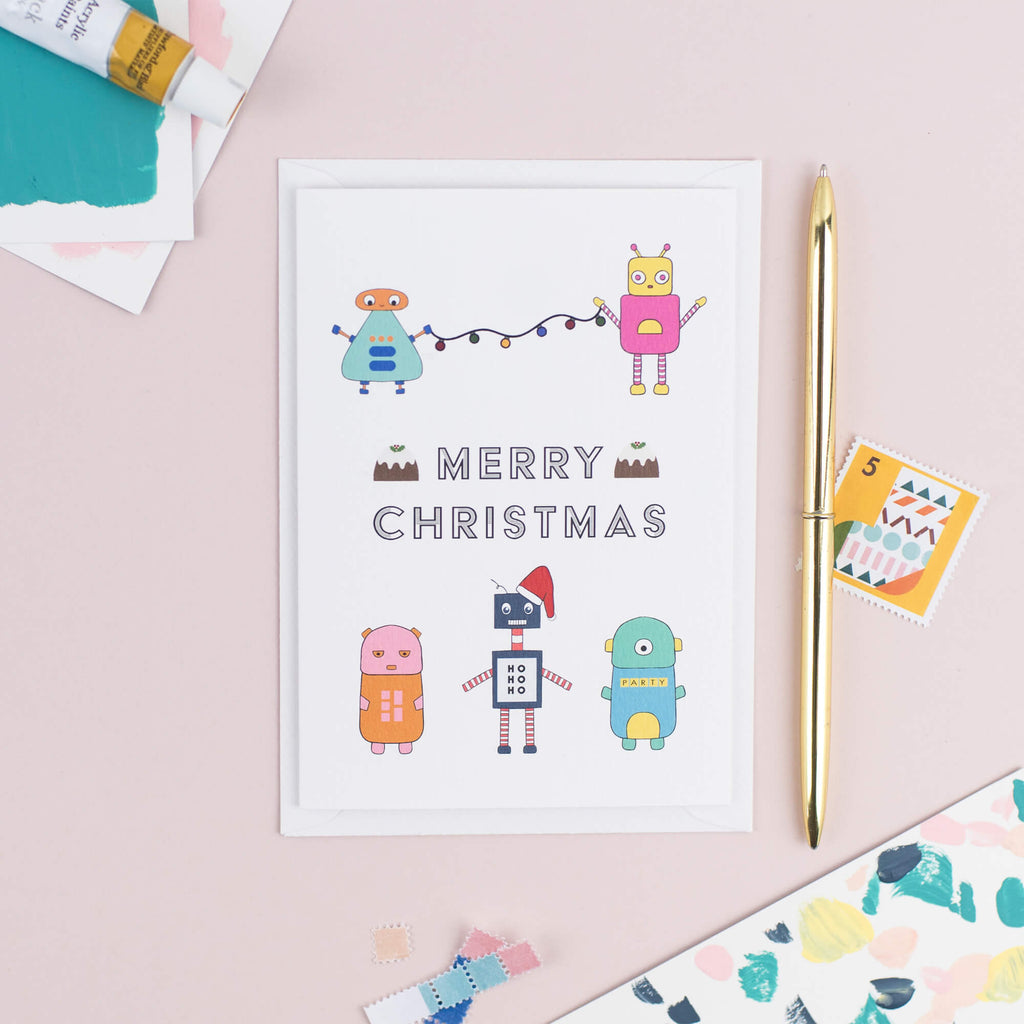 Robot Christmas Card - The Design Palette