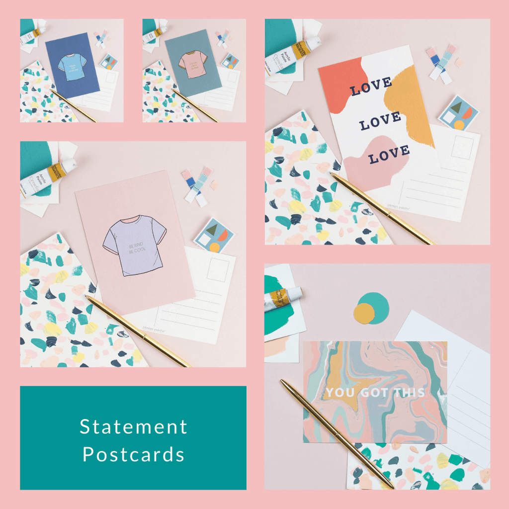 Make a Statement Postcards - 5 for £5 - The Design Palette