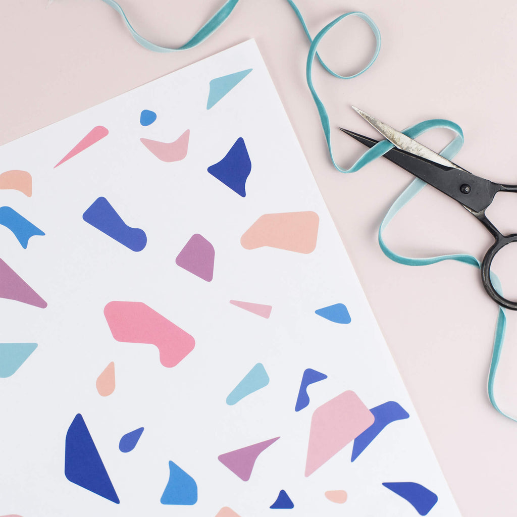 Terrazzo Gift Wrap Set - The Design Palette