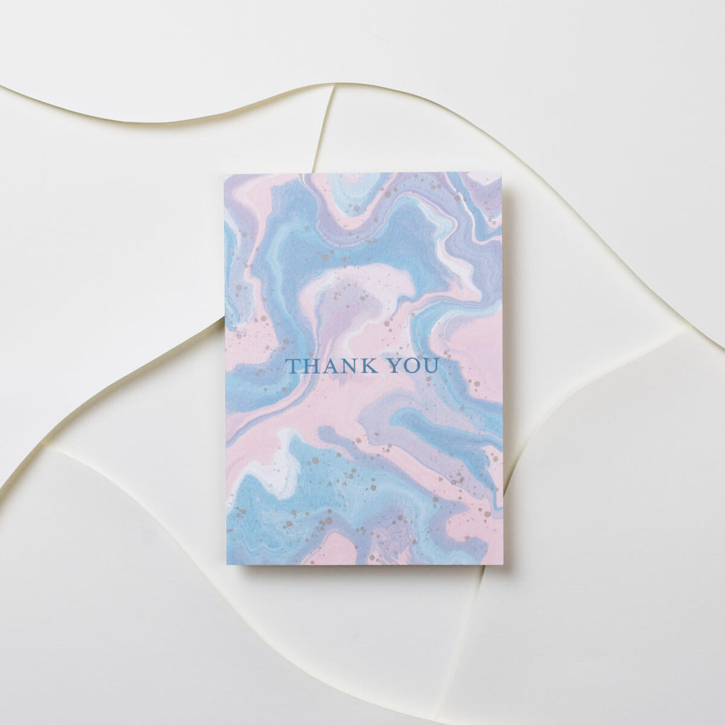 Thank You Marble Card - The Design Palette