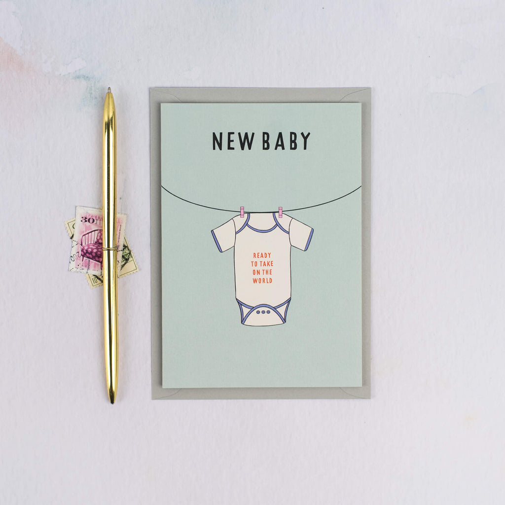 New Baby Gender-Neutral Card - The Design Palette