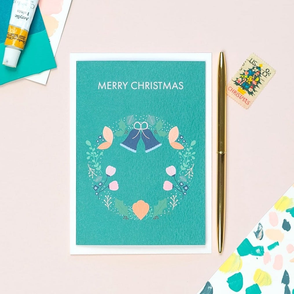 Wreath Christmas Card - The Design Palette