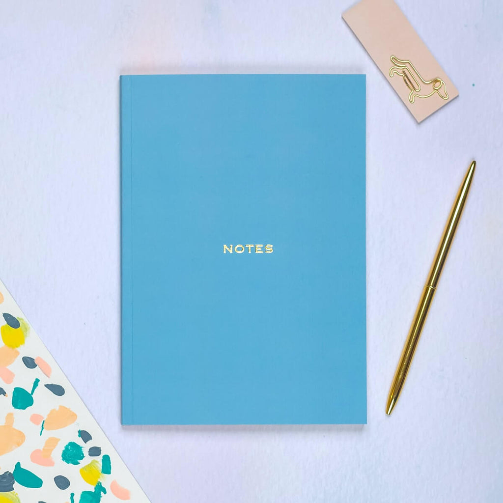 Winter Blue A5 Lined Notebook