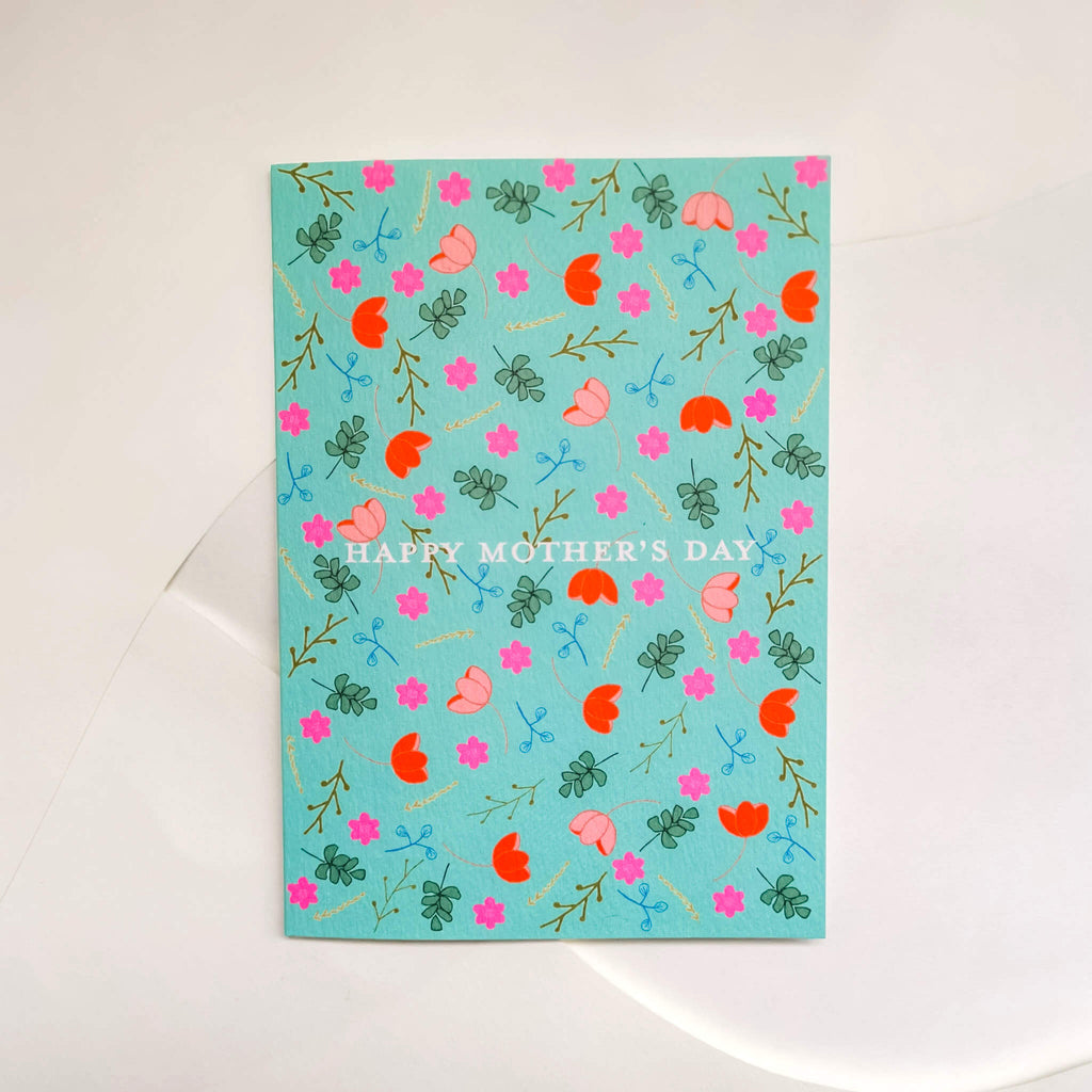 Floral Mother's Day Card - The Design Palette