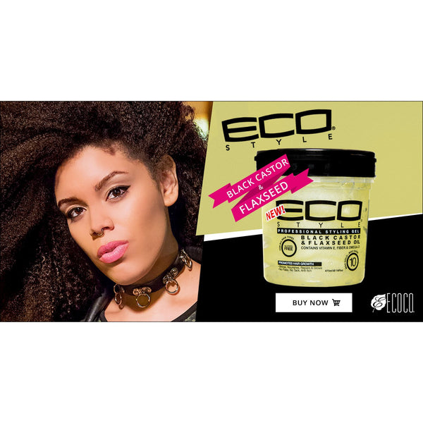 Eco Styler - Black Castor & Flaxseed (Gel activateur de boucles)
