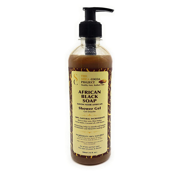 Shea Cocoa Project - African Black Soap (Gel douche au savon noir) - 500 ml