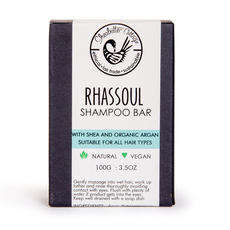 SheaButter Cottage - Shampoing Solide au Rhassoul (100g)