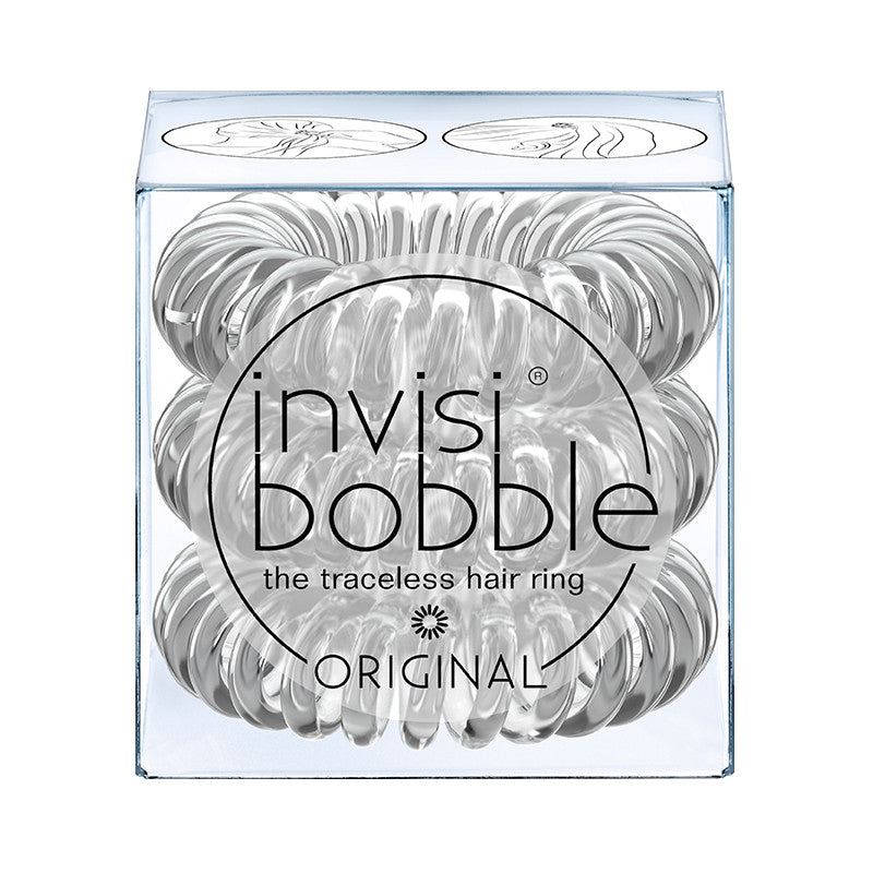 Invisibobble - Original - Crystal Clear (Lot de 3 élastiques)