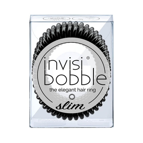 Invisibobble - Slim - True Black (Lot de 3 élastiques noirs)