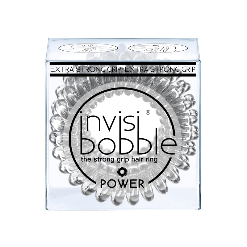 Invisibobble - Power - Crystal Clear (Lot de 3 élastiques transparents)