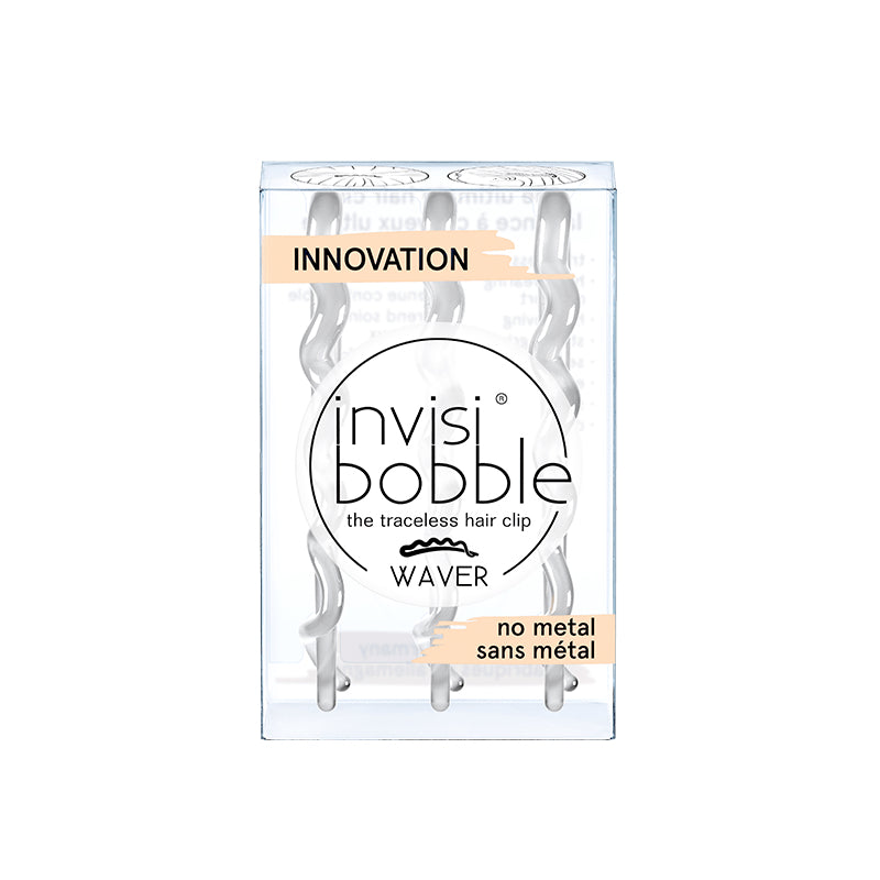 Invisibobble - Waver - Crystal Clear (Lot de 3 barrettes transparentes)