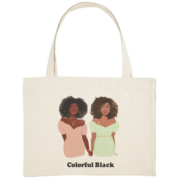Colorful Black - Shopping Bag - Nicholle Kobi