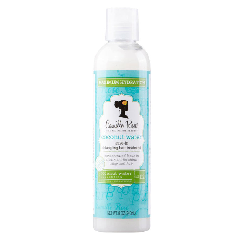 Coconut Water Leave-In Detangling Treatment offre une texture soyeuse, non-grasse et une incroyable hydratation. Il n'alourdit pas votre chevelure.