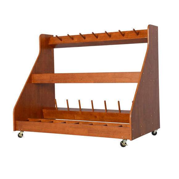 Alges Mobile Instrument Storage - 16-Unit Violin / Viola Rack