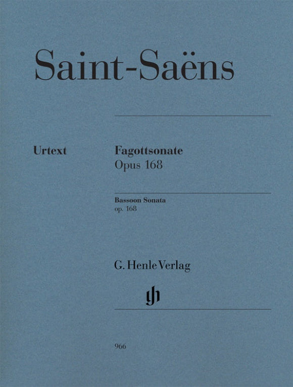 Saint-Saëns: Bassoon Sonata Op 168 for Bassoon & Piano