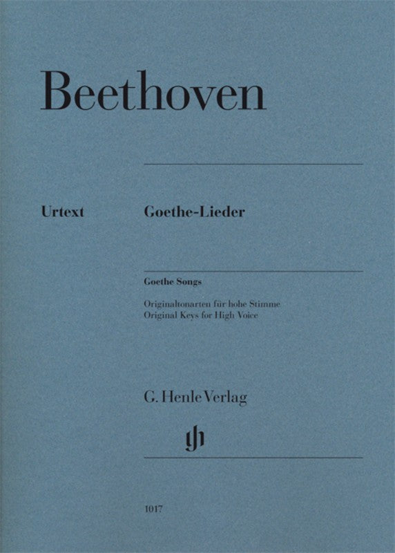 Beethoven: Goethe Songs High Voice & Piano