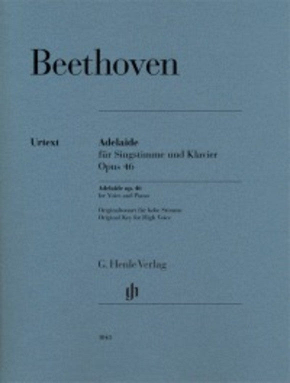 Beethoven: Adelaide Op 46 High Voice & Piano