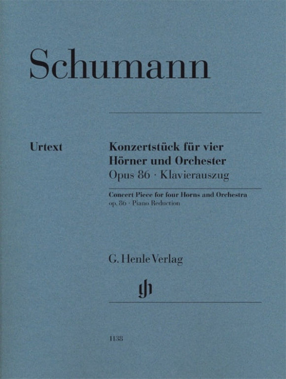 Schumann: Concert Piece for Four Horns Op 86 (Piano Reduction)