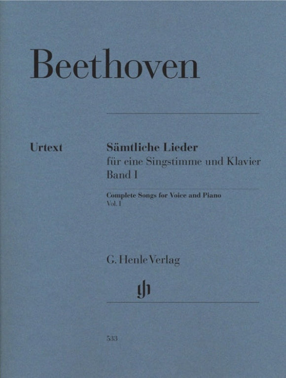 Beethoven: Complete Songs for Voice & Piano Volume 1