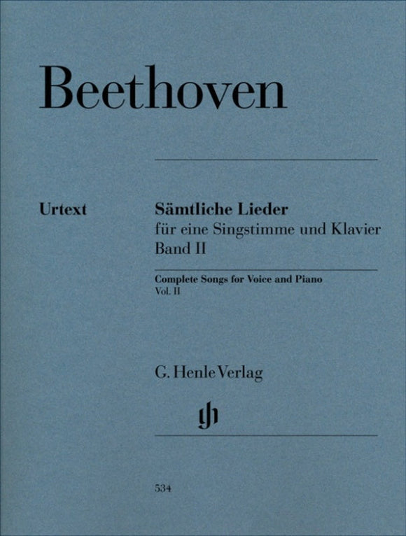 Beethoven: Complete Songs for Voice & Piano Volume 2
